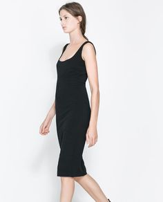 Image 3 of OTTOMAN DRESS WITH ZIP from Zara