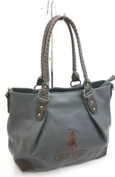 Borsa Donna Shopping con Tracolla Greenwich Polo Club Art040-8A Ecopelle Grigio