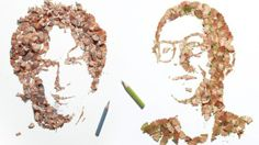 Portraits Made From Pencil Shavings