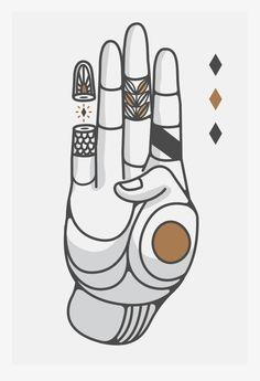 Hands and Symbols by Rodrigo Maceda del Río