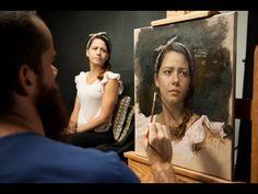 Oil Portrait Painting (Lincoln) Polarizing Demo by Jon Houglum, Franklin, NC Video #1 - YouTube