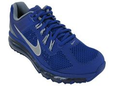 Womens Nike Air Max2013 555363 400 Blue Silver Cool Grey Running Sneaker Womens 95 Blue Silver Cool Grey *** You can get more details by clicking on the image.