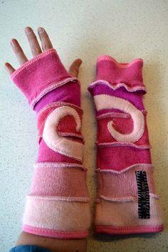 Katwise style gevoerde Crazy Armwarmers van LaTailleuse op Etsy