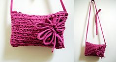 upcycling at it's best: purse crocheted with yarn obtained from one t-shirt