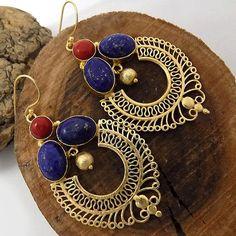 Gold  plated earring celeb earringparty earring designer