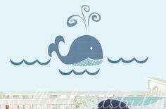 Blue Whale Fabric Wall Decal