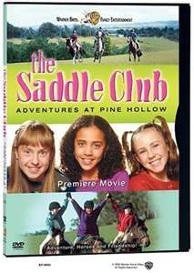 The Saddle Club' is a children's television series that aired in the early 2000s and is based on the books written by Bonnie Bryant and is an Australia/Canada co-production. It doesn't come on often, but when it does I always watch it as it mirrors the life I led at that age (12-18). Friends, horses, horse shows, and everything that went along with it.  Makes me very sentimental and glad I had that when I was younger.