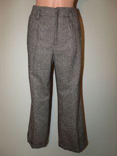 Chadwicks Petite Size 6P Inseam 29 Lined Brown Wool Blend Dress Pants EUC #Chadwicks #DressPants