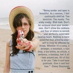 Wise words by Miss Zoey Deschanel - and here i was looking for a cute picture of her hair!:)