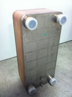 10'x20' Brazed 60 Plate Heat Exchanger Outdoor Wood Furnace [1-1/2' MPT], Silver