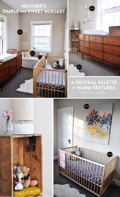 Lay Baby Lay: real nursery inspiration. I want that mid-century modern dresser!!