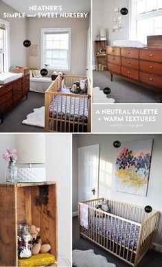 neutral and sweet nursery