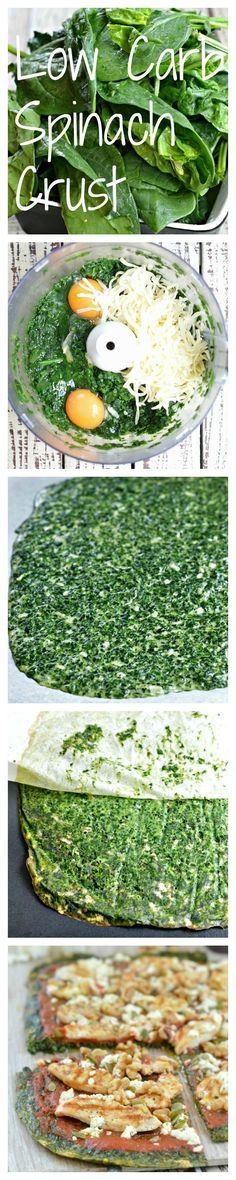 Low Carb Spinach Pizza Crust. A Paleo Pizza Crust free from gluten and flour. By http://www.sweetashoney.co