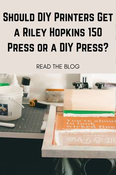 If you're just starting your screen printing journey, you might be a little overwhelmed. With the sheer amount of equipment options available, there's a lot to decide. Choosing which press to buy is the first and most important step of getting started. But which press should you buy? Let's compare two beginner presses: the DIY press and the Riley Hopkins 150. Creative Christmas Gifts, Holiday Crafts, Christmas Diy, Screen Printing Press, Screen Printer, Make Your Own Tshirt, Diy Kits, Prints, Journey