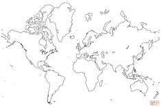 This printable world map with all continents is left blank ideal world map outline amazing race party gumiabroncs Images