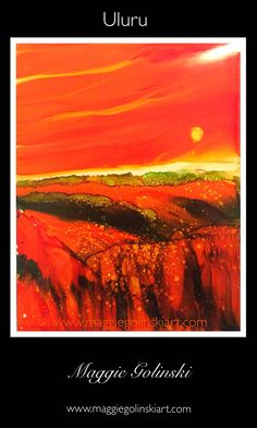 For fabulous original art by British artist Maggie Golinski visit her Etsy store. Great ideas for home decor. Pin for later #alcoholinkart #originalart #alcoholink #alcoholinkideas #britishartist #homedecorideas #art #alcoholinkpainting #smallpaintings #abstractart #contemporary art #abstractart #uluru #alcoholink ##landscapepainting http://maggiegolinskiart.com/2016/01/21/uluru/