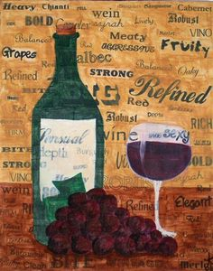 Wine Red & White made up of lots of descriptive wine words