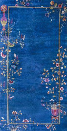 "#179 Chinese Art Deco carpet 9'0"" x 17'4"" circa 1930"