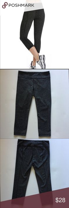Under Armour heathered capri /crop - size small Under Armour crop/capri pant - size small. Heathered gray/black color.  Excellent/like-new condition. Under Armour Pants Ankle & Cropped