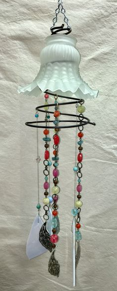 Trendy Garden Art From Junk Wind Chimes Sun Catcher 49 Ideas - Decor Diy Home Bed Spring Crafts, Spring Art, Crafts To Do, Arts And Crafts, Diy Crafts, Diy Garden, Garden Art, Garden Ideas, Garden Junk