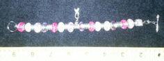 $20.00  Cancer Awareness Ribbon Bracelet pink