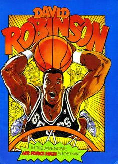 Air Force High - 'The Admiral' David Robinson (Basketball Drawings)