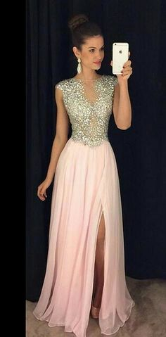 Plus Size Prom Dress, pink chiffon prom dresses party gowns Shop plus-sized prom dresses for curvy figures and plus-size party dresses. Ball gowns for prom in plus sizes and short plus-sized prom dresses Prom Dresses Long Pink, Prom Dresses For Teens, Best Prom Dresses, Sweet 16 Dresses, Prom Party Dresses, Party Gowns, Formal Evening Dresses, Pretty Dresses, Homecoming Dresses