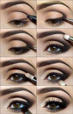 Classic Black Eyeshadow Tutorial For Beginners | 12 Colorful Eyeshadow Tutorials For Beginners Like You! by Makeup Tutorials at http://makeuptutorials.com/colorful-eyeshadow-tutorials-for-beginners/ #colorfuleyeshadows #eyeshadowsforbeginners