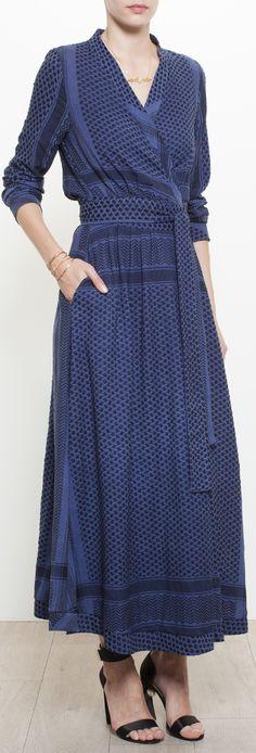 CECILIE COPENHAGEN Wrap Around Keffiyeh Dress
