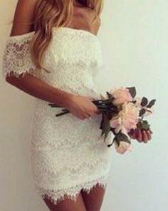 Whife lace wedding dress