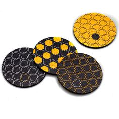 Flox 'Honeycomb Hex' Rubber Coasters by FloxHome on Etsy, $15.00