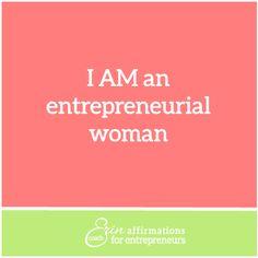 Affirmations for Self Employed Women Entrepreneurs from Coach Erin #ecoacherin #womanbusinessowner affirmations for women business owners http://www.ecoacherin.com/insights