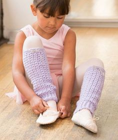 Joy of Dance Leg Warmers Free Crochet Pattern in Red Heart Yarns