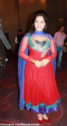 Deepika Singh, Saree Trends, Beautiful Long Hair, Churidar, Celebs, Celebrities, Indian Wear, Desi, Bollywood