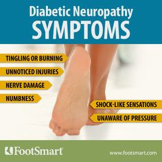 About half of all people with diabetes have some form of neuropathy (nerve damage). Learn more about diabetic neuropathy at the FootSmart Foot Health Resource Center.