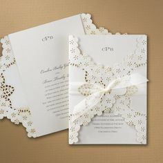 Elegant Floral Lace - Invitation | Carlson Craft Wedding & Stationery Products