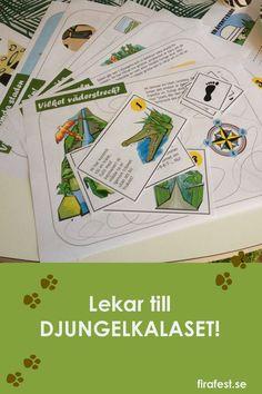 Här finns tips och idéer till barnkalas med djungeltema. Lekar, mat, dekorationer och mycket mer. #lekar # barnkalaslekar #kalas #barnkalas #djungel #djungeltema #djungelkalas#firafest