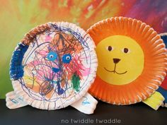 easy paper plate lion craft for kids of multiple ages & skills