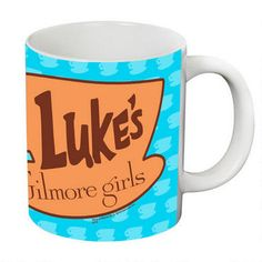 Sit down and relax at Luke's Diner! This oversized Gilmore Girls mug features a logo from Luke's Diner, the spot everyone in Stars Hollow goes to eat and catch up!  This white ceramic mug holds 20 ounces and is microwave and dishwasher safe.