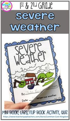 Severe Weather/ Storms Mini Unit- & Grade Are you looking for a fun way to teach your Weather Activities For Kids, Weather Science, Weather Unit, Weather And Climate, Severe Weather, Sunny Weather, Science Lessons, Science Activities, Science Fun