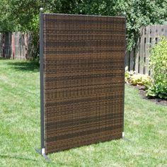 Versare Outdoor Wicker Resin Room Divider   Perfect For Your Deck Or Patio,  The Versare Outdoor Wicker Resin Room Divider Is Comprised Of One ...