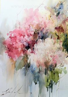 Fabio Cembranelli Artimañas: Selección de acuarelas de flores - Flowers - watercolors