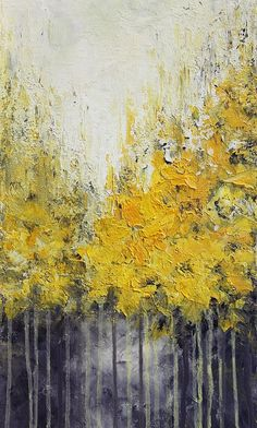 Items similar to Acrylic Painting Yellow Abstract Painting Landscape Painting Wall Hanging Wall Art Painting Home Decor Gift for Her on Etsy - Yellow abstract acrylic painting done with palette knife on canvas TITLE: Autumn SIZE: 12 x 36 ME - Abstract Landscape, Landscape Paintings, Art Paintings, Painting Abstract, Easy Abstract Art, Painting Clouds, City Painting, Yellow Painting, Art Sur Toile