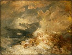 "poboh: ""A Disaster at Sea, ca Joseph Mallord William Turner. - The Conversation "" Joseph Mallord William Turner, Maggi Hambling, Turner Painting, English Romantic, Human Pictures, Romantic Themes, Classical Period, Tate Gallery, Tate Britain"