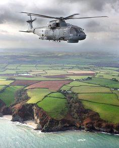 Royal Navy Merlin Helicopter ~ Photo; ©️Crown Copyright; MOD - #UK #GB #Britain #England #Scotland #Wales #NorthernIreland #British #RoyalNavy #Navy #Naval #RoyalMarines #Marines #Army #Soldier #Airforce