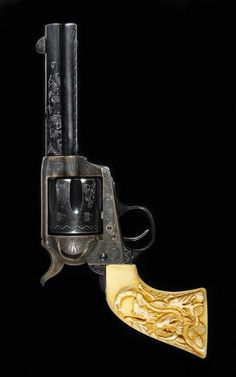 A factory engraved Colt single action army revolver attributed to Cuno E. Helfricht Serial no. 126596 for 1888.