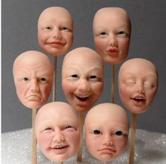 sculpting faces with expressions
