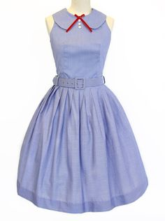 Picnic in Paris Belted Dress - Kitten D'amour