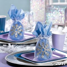 Decorated with a silver snowflake, these Large Snowflake Organza Drawstring Bags are just the right size for treats and small party favors. Perfect to use at . Snowflake Party, Oriental Trading, Winter Theme, Organza Bags, Holiday Cards, Snowflakes, Christmas Holidays, Party Favors, Drawstring Bags