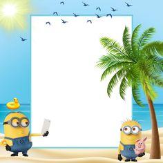 Minions Summer Kids Transparent Frame